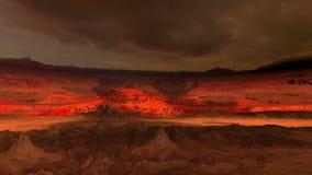 Σκιές που κινούνται στην κόκκινη έκταση απόθεμα βίντεο