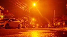 Σκιές του κόκκινου πλαισίου το αυτοκίνητο Στοκ Φωτογραφίες