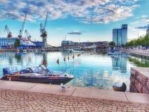 Σκιές του μπλε μια Κυριακή απόγευμα το Μάιο Στοκ Εικόνα