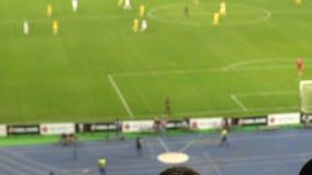 Σκιές των οπαδών ποδοσφαίρου που ματαιώνονται με την απώλεια του παιχνιδιού, που παρουσιάζει απελπισμένες συγκινήσεις φιλμ μικρού μήκους