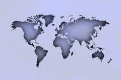 Σκιές χαρτών Worrld πέρα από το μαλακό μπλε στοκ φωτογραφία με δικαίωμα ελεύθερης χρήσης