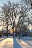 Σκιές χιονιού Στοκ φωτογραφία με δικαίωμα ελεύθερης χρήσης