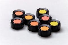 Σκιές χρώματος, κόκκινο, πορτοκάλι, κίτρινος, πράσινο, ελιά Στοκ φωτογραφία με δικαίωμα ελεύθερης χρήσης
