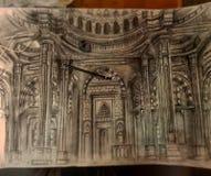 Σκιαγράφηση μουσουλμανικών τεμενών Alnoor στοκ εικόνες