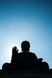 Σκιαγραφήστε το γιγαντιαίο Βούδα στο Χονγκ Κονγκ Στοκ εικόνες με δικαίωμα ελεύθερης χρήσης