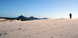 σκιαγραφία άμμου αμμόλοφ&ome στοκ εικόνες με δικαίωμα ελεύθερης χρήσης