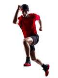 Σκιαγραφία άλματος δρομέων jogger τρέχοντας jogging Στοκ εικόνα με δικαίωμα ελεύθερης χρήσης