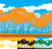 Σκιαγραφία δέντρων Στοκ Φωτογραφίες