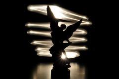 Σκιαγραφία αγγέλου στοκ εικόνες με δικαίωμα ελεύθερης χρήσης