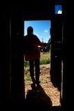 σκιαγραφία αγροτικών κο&r στοκ φωτογραφία με δικαίωμα ελεύθερης χρήσης