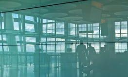 σκιαγραφία αερολιμένων Στοκ φωτογραφία με δικαίωμα ελεύθερης χρήσης
