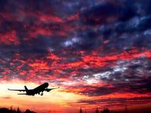 σκιαγραφία αεροπλάνων Στοκ εικόνα με δικαίωμα ελεύθερης χρήσης