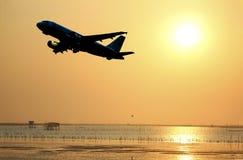 Σκιαγραφία αεροπλάνων Στοκ Εικόνες