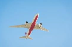 Σκιαγραφία αεροσκαφών αεριωθούμενων αεροπλάνων στοκ φωτογραφία με δικαίωμα ελεύθερης χρήσης
