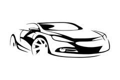 Σκιαγραφία αθλητικών αυτοκινήτων Στοκ εικόνες με δικαίωμα ελεύθερης χρήσης