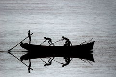 σκιαγραφία αλιείας βαρ&kapp Στοκ Εικόνα
