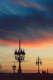 Σκιαγραφία λαμπτήρων οδών Στοκ Εικόνα