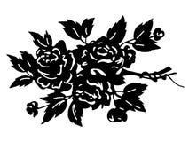 σκιαγραφία ανθοδεσμών λουλουδιών Στοκ Φωτογραφίες