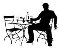 Σκιαγραφία ατόμων Jilted Στοκ φωτογραφία με δικαίωμα ελεύθερης χρήσης