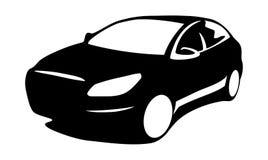 Σκιαγραφία αυτοκινήτων σύγχρονη Στοκ εικόνες με δικαίωμα ελεύθερης χρήσης