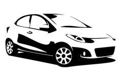Σκιαγραφία αυτοκινήτων Στοκ εικόνες με δικαίωμα ελεύθερης χρήσης