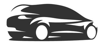 Σκιαγραφία αυτοκινήτων Στοκ εικόνα με δικαίωμα ελεύθερης χρήσης