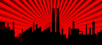 σκιαγραφία βιομηχανίας Στοκ εικόνα με δικαίωμα ελεύθερης χρήσης