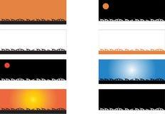 Σκιαγραφία γατών με τα διαφορετικά χρώματα Στοκ φωτογραφία με δικαίωμα ελεύθερης χρήσης