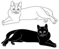Σκιαγραφία γατών Στοκ εικόνα με δικαίωμα ελεύθερης χρήσης