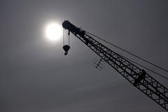 σκιαγραφία γερανών Στοκ Φωτογραφία