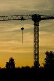 Σκιαγραφία γερανών Στοκ φωτογραφία με δικαίωμα ελεύθερης χρήσης