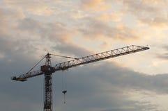 Σκιαγραφία γερανών Στοκ εικόνα με δικαίωμα ελεύθερης χρήσης