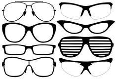 Σκιαγραφία γυαλιών Στοκ Φωτογραφία