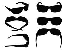 Σκιαγραφία γυαλιών Στοκ εικόνες με δικαίωμα ελεύθερης χρήσης
