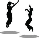 Σκιαγραφία γυναικών χορευτών Στοκ Εικόνα