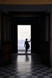 Σκιαγραφία γυναικών Στοκ Φωτογραφία