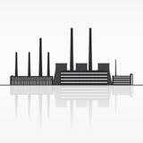 Σκιαγραφία εγκαταστάσεων παραγωγής ενέργειας Στοκ εικόνα με δικαίωμα ελεύθερης χρήσης