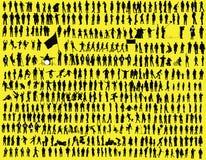 σκιαγραφία εκατοντάδων Στοκ Φωτογραφία