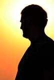 Σκιαγραφία ενός ατόμου Στοκ φωτογραφία με δικαίωμα ελεύθερης χρήσης