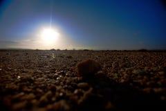 Σκιαγραφία ενός βράχου στην έρημο στοκ φωτογραφία με δικαίωμα ελεύθερης χρήσης