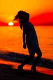 Σκιαγραφία ενός γυναικείου χορού Στοκ Εικόνες