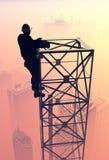 Σκιαγραφία ενός εργαζομένου Στοκ φωτογραφία με δικαίωμα ελεύθερης χρήσης