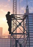 Σκιαγραφία ενός εργαζομένου Στοκ Φωτογραφία