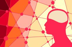 Σκιαγραφία ενός κεφαλιού ατόμων ` s Στοκ φωτογραφία με δικαίωμα ελεύθερης χρήσης