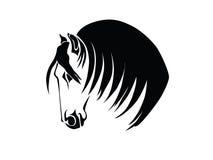 Σκιαγραφία ενός κεφαλιού του αλόγου Στοκ φωτογραφίες με δικαίωμα ελεύθερης χρήσης