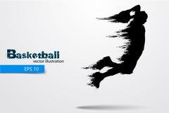 Σκιαγραφία ενός παίχτης μπάσκετ επίσης corel σύρετε το διάνυσμα απεικόνισης Στοκ φωτογραφίες με δικαίωμα ελεύθερης χρήσης