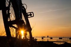 Σκιαγραφία ενός ποδηλάτου Στοκ φωτογραφίες με δικαίωμα ελεύθερης χρήσης