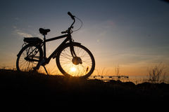 Σκιαγραφία ενός ποδηλάτου Στοκ εικόνες με δικαίωμα ελεύθερης χρήσης