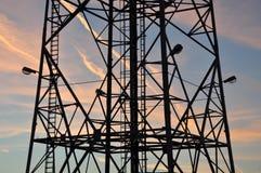 Σκιαγραφία ενός πύργου χάλυβα Στοκ εικόνες με δικαίωμα ελεύθερης χρήσης