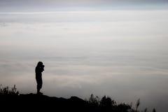 Σκιαγραφία ενός φωτογράφου Στοκ εικόνα με δικαίωμα ελεύθερης χρήσης